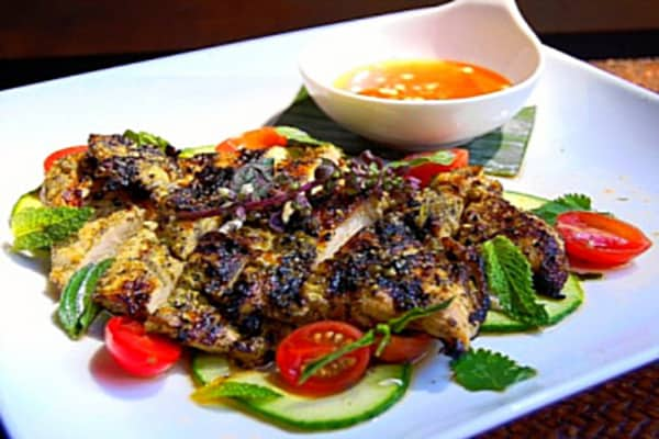 Grilled Cilantro Chicken with Thai Hot Sauce