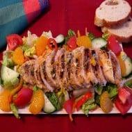 Grilled Chicken Salad with Orange Dressing