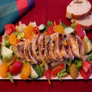 Chicken & Salad with Orange Dressing