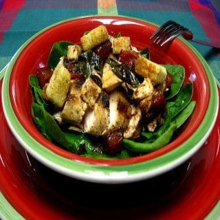 Grilled Chicken Salad with Tomato Vinaigrette