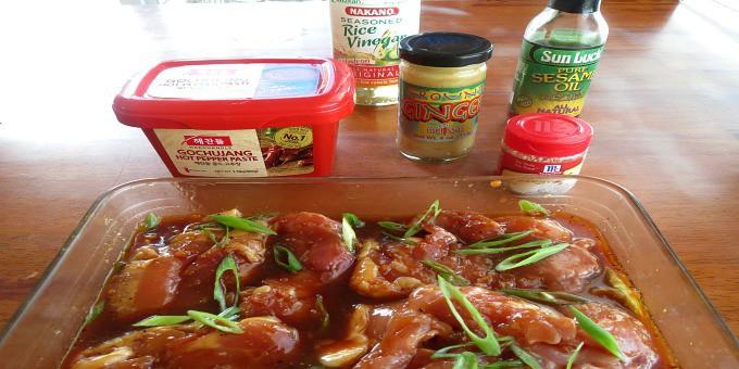 Ingredients for dak galbi