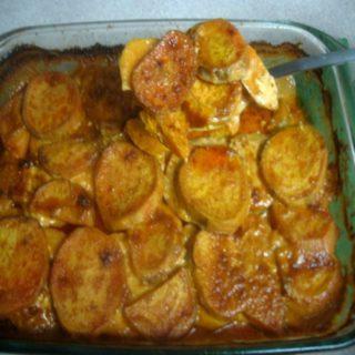Smoky Sweet Potatoes Au Gratin