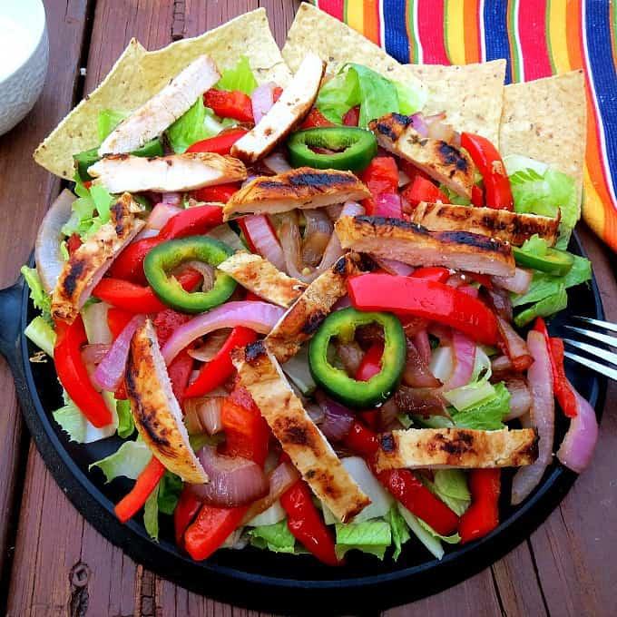 Chicken Fajita Caesar Salad